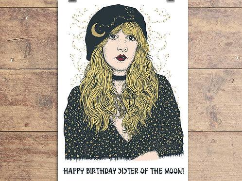 Stevie Nicks - Sister Of The Moon Birthday Greeting Card