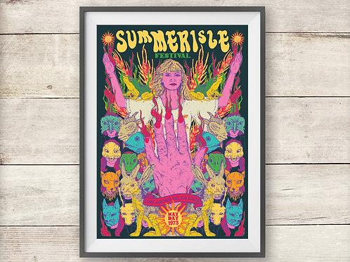 Summerisle Festival Poster - The Wicker Man - Folk Horror Print
