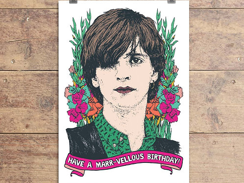 Johnny Marr - The Smiths - Marr-vellous Birthday Greeting Card