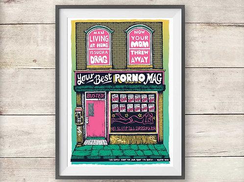Beastie Boys Adult Book Store Print