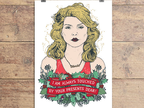 Blondie - Debbie Harry Christmas Greeting Card