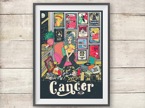 Cancer Print - Astrology - Zodiac Print