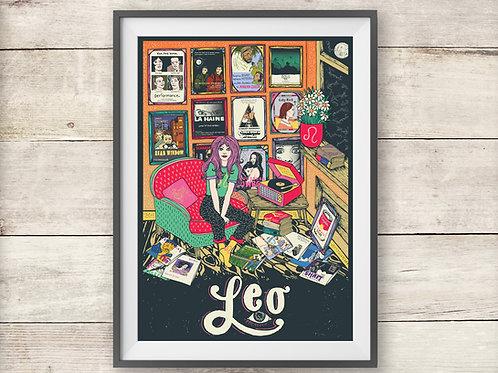 Leo Print - Astrology - Zodiac Print