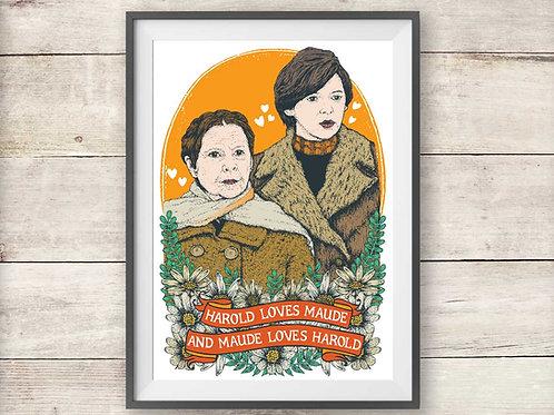 Harold and Maude Movie Film Print