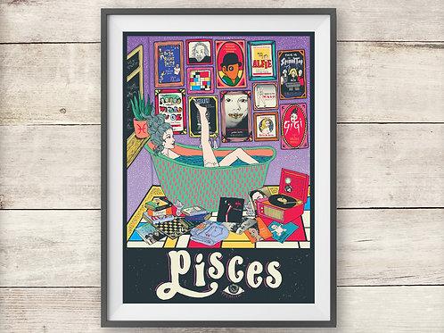 Pisces Print - Astrology -  Zodiac Print