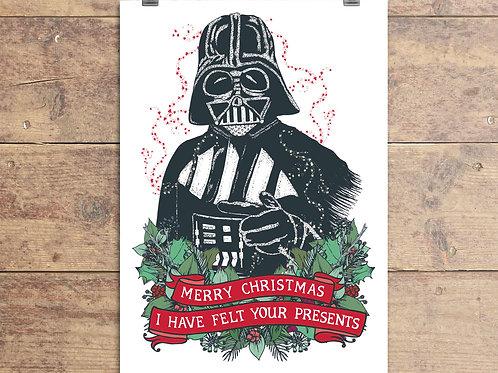 Darth Vader - Star Wars - Christmas Greeting Card