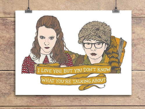 Sam and Suzy - Moonrise Kingdom Greeting Card