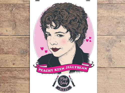 Rizzo - Grease Movie - Peachy Keen Jellybean Greeting Card