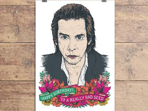 Nick Cave - Bad Seed Birthday Greeting Card