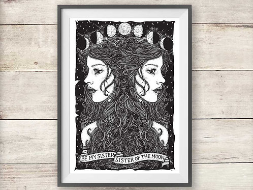 Fleetwood Mac Sisters Of The Moon Lyric Print