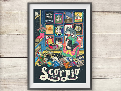 Scorpio Print - Astrology - Horoscope - Zodiac Print