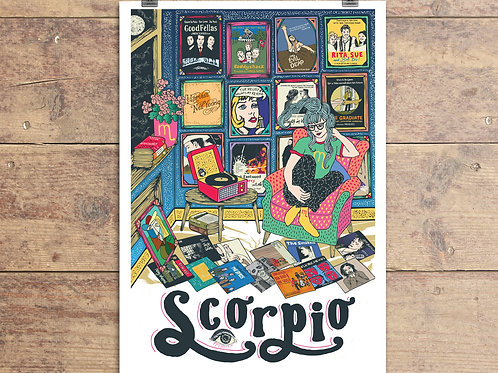 Scorpio Greeting Card - Astrology - Horoscope - Zodiac