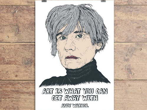 Andy Warhol Greeting Card - Andy Warhol Quote