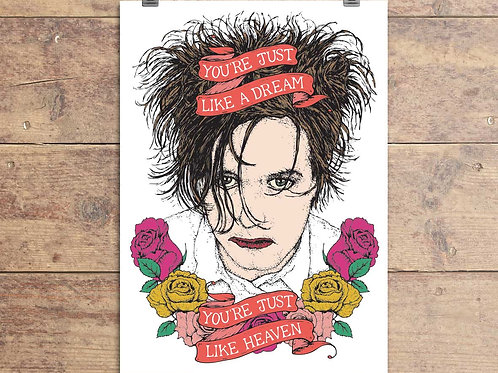 The Cure - Robert Smith - Just Like Heaven - Greeting Card