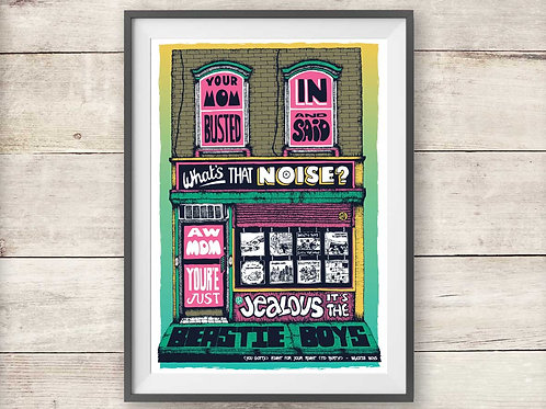 Beastie Boys Record Shop Print