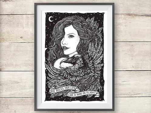 Fleetwood Mac Rhiannon Lyric Print