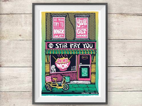 Beastie Boys Intergalactic - Chinese Restaurant Print