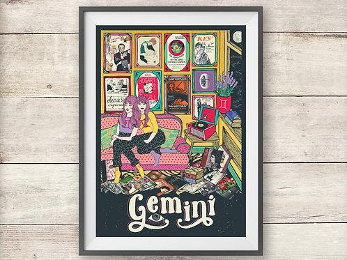 Gemini Print - Astrology - Zodiac Print