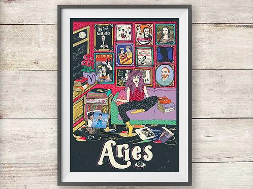 Aries Print - Astrology - Zodiac Print