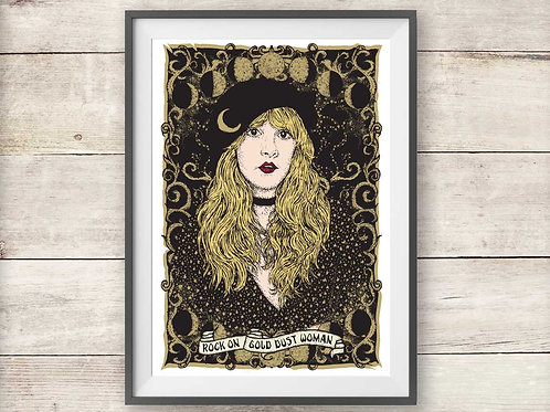 Stevie Nicks - Gold Dust Woman - Fleetwood Mac Print