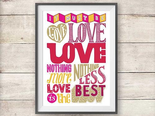 Madness - Labi Siffre - It Must Be Love - Print