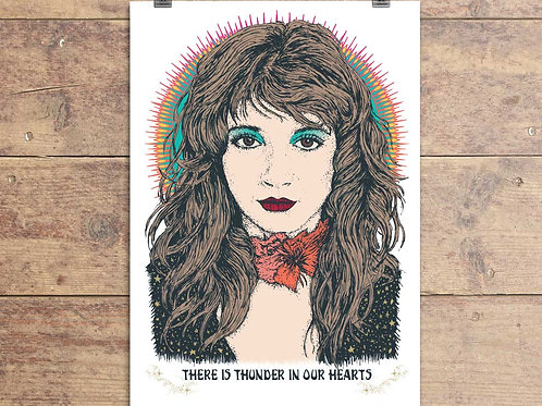 Kate Bush Greeting Card - Running Up That Hill Quote
