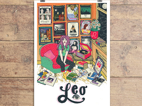 Leo Greeting Card - Astrology - Zodiac