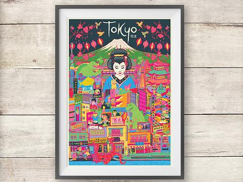 Tokyo Poster - Tokyo Japan Travel Print