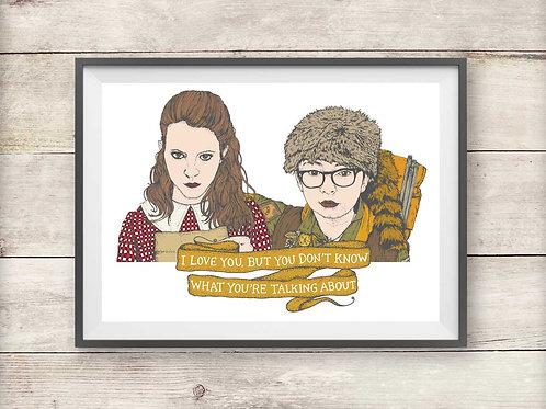 Sam and Suzy - Moonrise Kingdom - Print