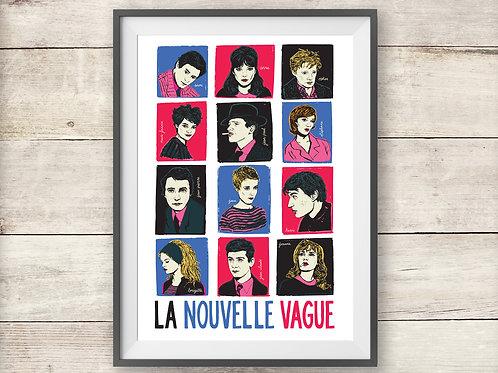 French New Wave - La Nouvelle Vague - Print - Poster