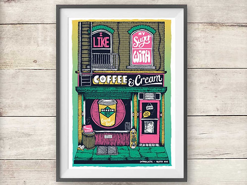 Beastie Boys Intergalactic - Coffee Shop Print