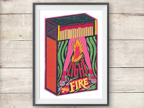 Light My Fire - Print - Poster