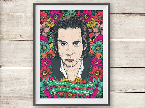 Nick Cave Print - The Ship Song Lyric