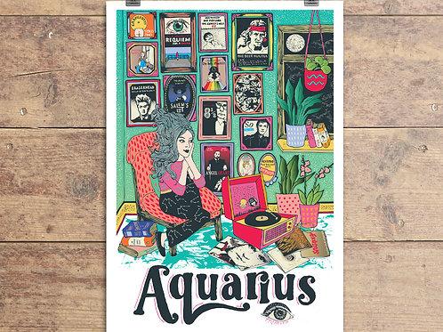 Aquarius Greeting Card - Astrology - Zodiac