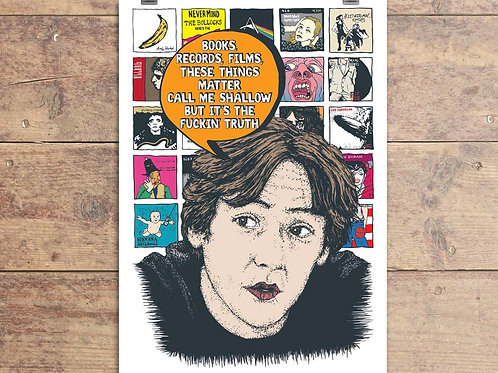High Fidelity Greeting Card - Books, Records, Films Quote