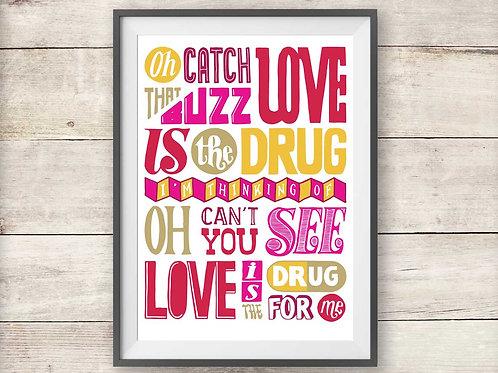 Roxy Music - Love Is The Drug - Print