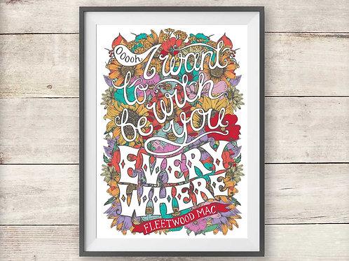 Fleetwood Mac - Everywhere - Print