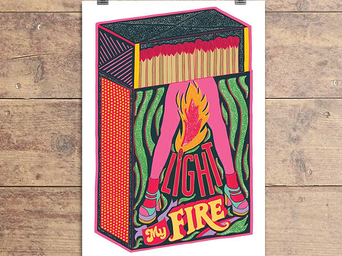 Light My Fire - Greeting Card