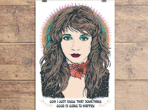 Kate Bush Greeting Card - Cloudbusting Quote