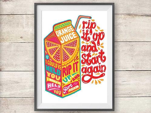 Orange Juice - Rip It Up - Print