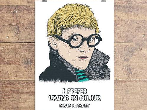 David Hockney Greeting Card - David Hockney Quote