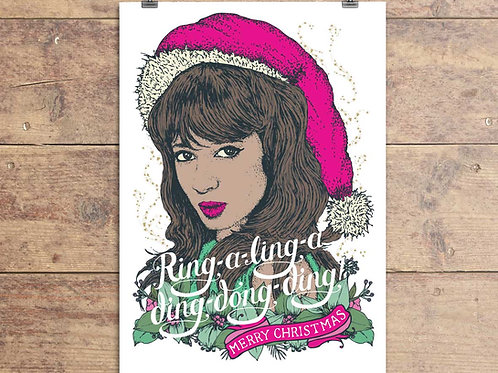 Ronnie Spector Christmas Card - The Ronettes Greeting Card