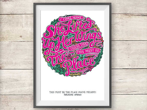 Talking Heads - This Must Be The Place Print