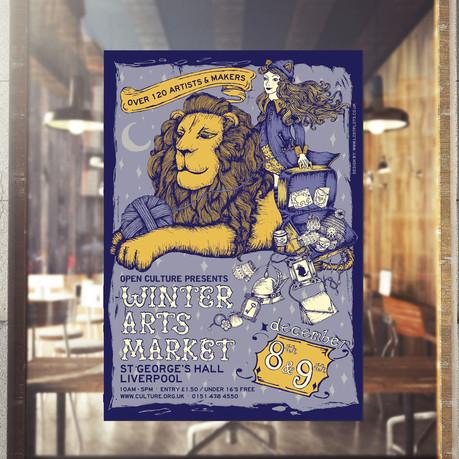Winter Arts Market Poster - Client: Open Culture