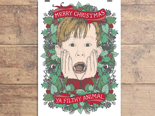 Home Alone - Ya Filthy Animal - Christmas Card