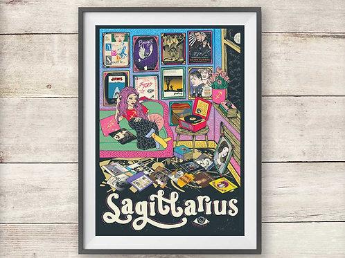 Sagittarius Print - Astrology - Zodiac Print