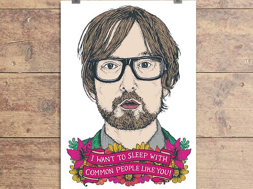 Jarvis Cocker - Pulp - Common People Greeting Card