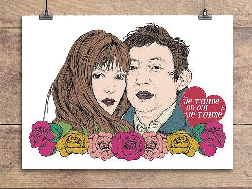 Jane Birkin and Serge Gainsbourg - Je T'aime - Valentine's Greeting Card