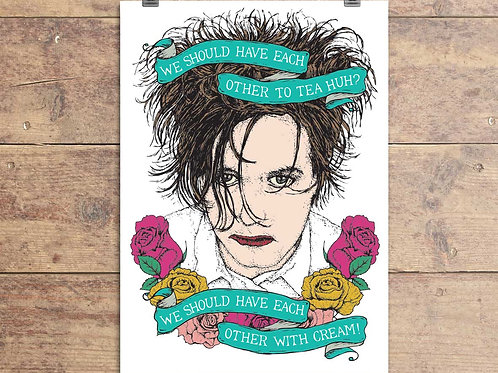 The Cure - Robert Smith - Lovecats - Greeting Card