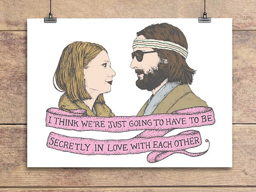 Margot and Richie - Royal Tenenbaums Greeting Card